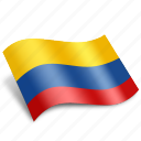 colombia, country, flag, location, national, navigation, south icon