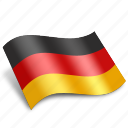 deutschland, flag, germany, map, national, navigation, world icon