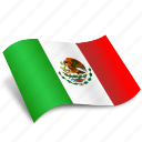 country, flags, mexico, navigation, pin, world icon