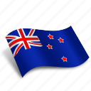 flag, location, national, newzealand, pin, square, world icon