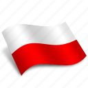 flags, location, pointer, poland, polska, rectangular, zloty icon