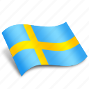 circular, country, rectangular, round, sverige, sweden, yellow icon