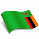 arrow, country, gps, national, navigation, rectangle, zambia icon