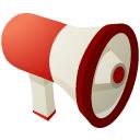 megaphone, r icon