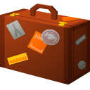 br, suitcase icon