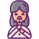 cough, coughing, health, woman icon