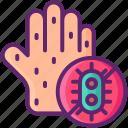 allergy, hand, rash, skin icon