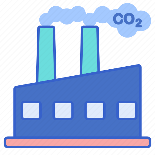 air, factory, industry, pollution icon