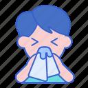 allergic, flu, nose, rhinitis icon
