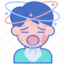 anaphylaxis, dizzy, headache icon