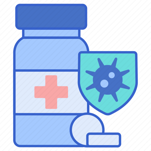 antibiotic, drug, pills, resistant icon
