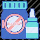 allergy, antihistamines, medicine icon
