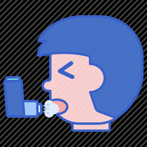 asthma, inhaler, medical icon