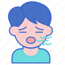 bad, breath, mouth icon
