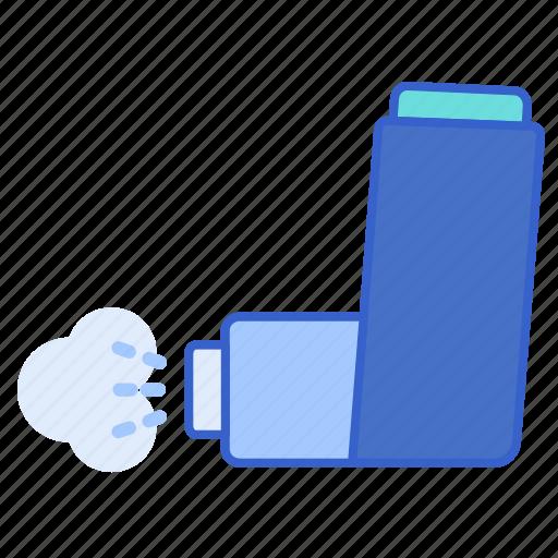 asthma, bronchodilators, inhaler icon
