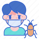 allergy, cockroach, insect icon