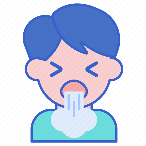 asthma, coughing, sick icon
