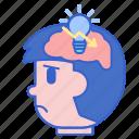 brain, concentration, decreased, head icon