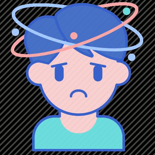 dizziness, headache, migraine icon