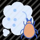 dust, micro, mites icon