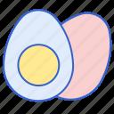 eggs, protein, yolk icon