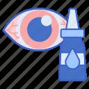 eye, eyedrops, irritation, vision icon