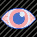 allergy, eye, irritation, redness icon