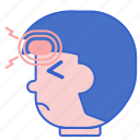 frontal, headaches, migraine icon
