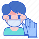 allergy, glove, latex icon
