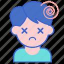 ache, consciousness, dizzy, head icon