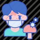 allergy, mold, mushroom, sick icon