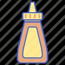 bottle, food, mustard icon
