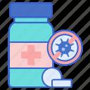 drugs, medicine, penicillin, pills icon
