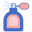 bottle, cologne, perfume, spray icon