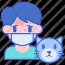 allergy, animal, cat, pet icon