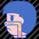 drip, nose, postnasal, sick icon