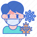 allergies, seasonal, sick icon