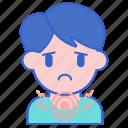 irritation, sick, swelling, throat icon