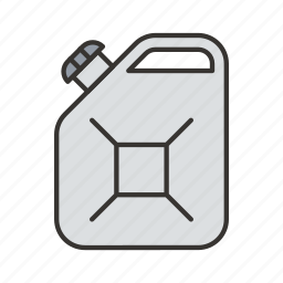 can, canister, fuel, gas, oil icon