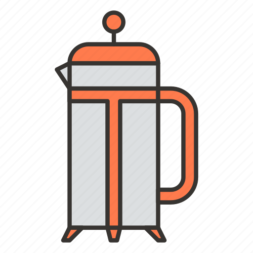 coffee, coffeepot, frenchpress, kettle, pot, teapot icon