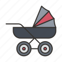 baby, carriage, cart, pram, stroller icon