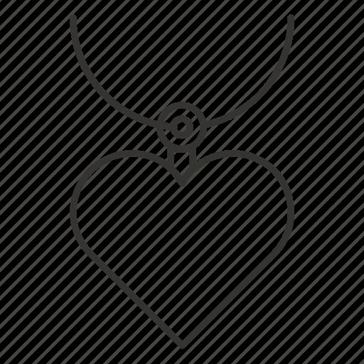 day, heart necklace, jewellery, love, pendant, romance, valentine icon