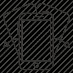 communication, mobile, phone, rotate, smartphone, telephone icon