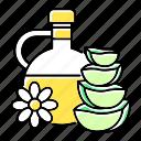 aloe, cut, essential, herbal, oil, plant, vera