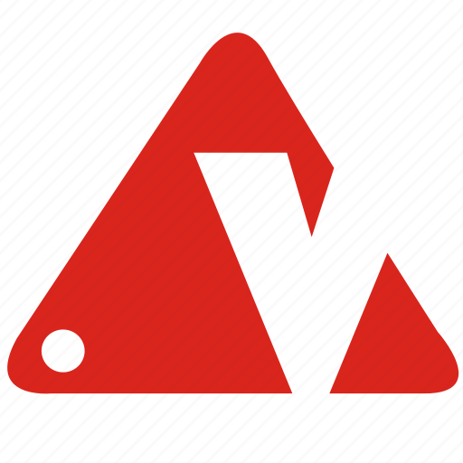alphabet, v icon