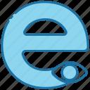 e, alphabet, education, letter, text, abc, vowel
