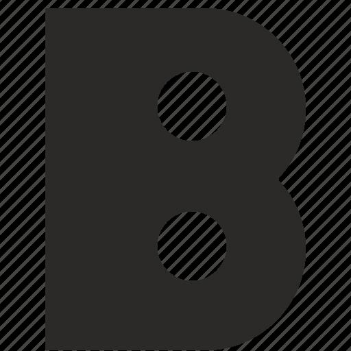 alphabet, b, child, kid, latin, letter icon