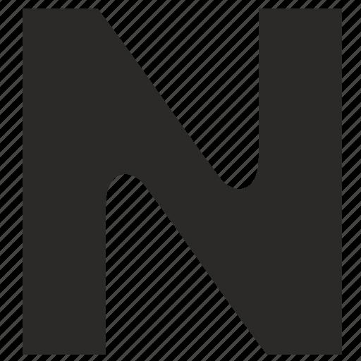 alphabet, child, kid, latin, letter, n icon