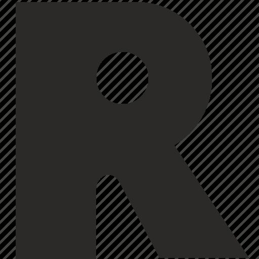 alphabet, child, kid, latin, letter, r icon