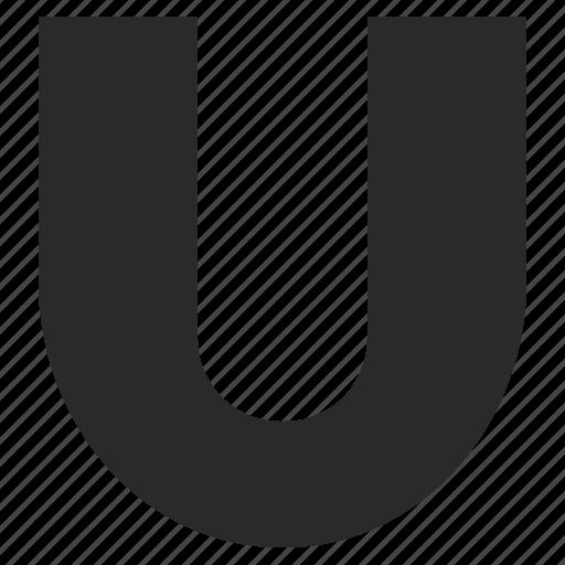 alphabet, child, kid, latin, letter, u icon
